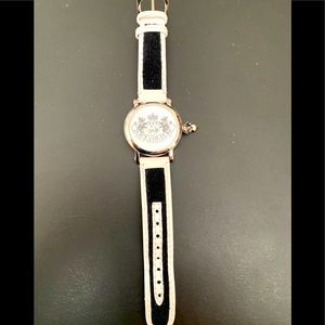 Juicy couture charm watch w/ black & white band